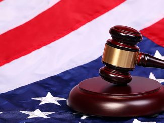 US Flag and Gavel